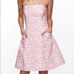 Lilly Pulitzer embroidered floral strapless dress